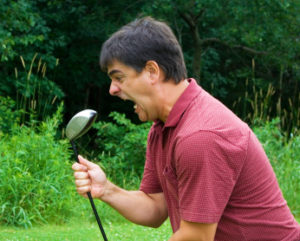 golf swing frustration